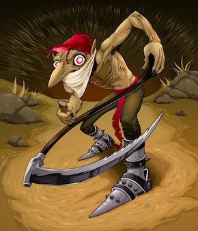 Irischer böser kobold namens red cap