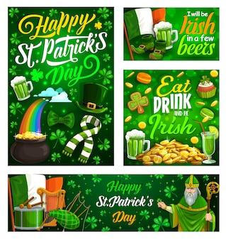 Irischer st. patricks day feiertagsentwurf