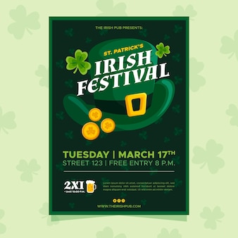 Irisches festival st. patrick tagesplakat