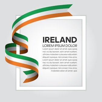 Irland-bandflagge, vektorillustration auf weißem hintergrund
