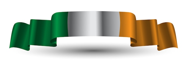 Irland flagge band banner