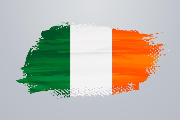 Irland pinselfarbe flagge