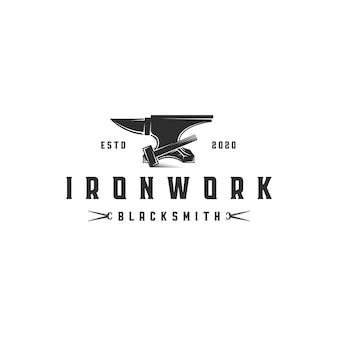 Ironwork emblem logo vorlage