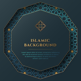 Islamische abstrakte hintergrundschablone