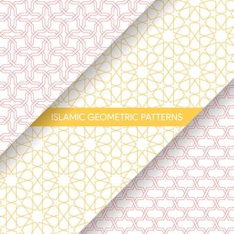 Islamische art-nahtlose geometrische muster-sammlung