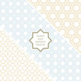 Islamische art nahtlose geometrische muster sammlung
