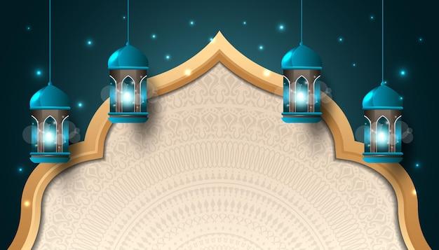 Islamische dekoration mit laterne