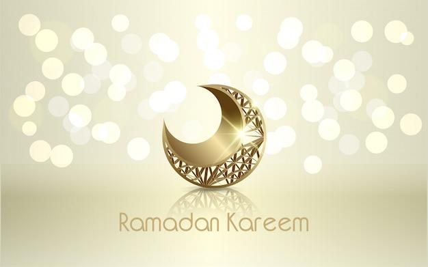 Islamische design ramadan kareem-mondillustration