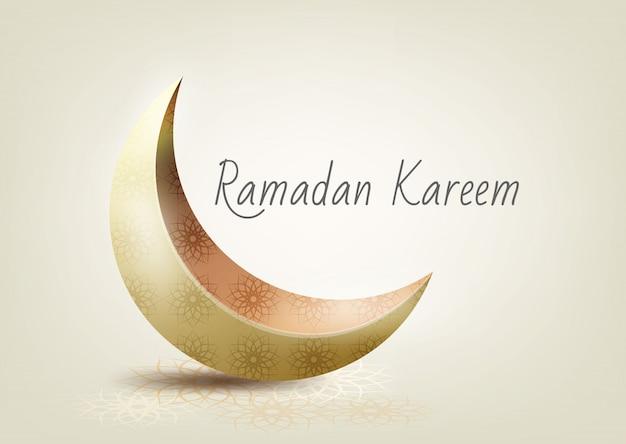Islamische feier des ramadan-kartenhintergrundes
