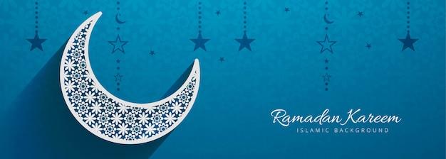 Islamische festival banner vorlage design
