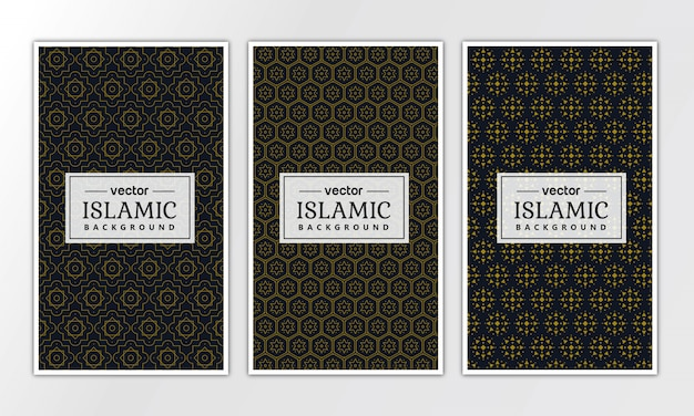 Islamische geometrische luxusmustersammlung
