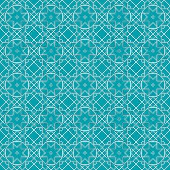 Islamische geometrische nahtlose musterhintergrundtapete im luxusbatikstil