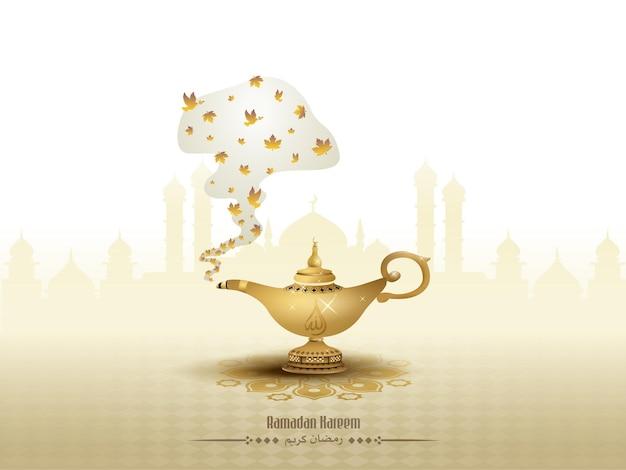 Islamische grüße ramadan kareem kartenentwurf
