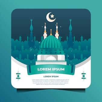 Islamische illustration der nabawi-moschee