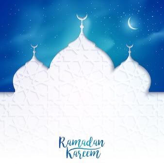 Islamische illustration des ramadan kareem-grußfahnenhintergrundes