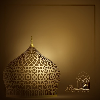 Islamische moscheenhaube mit arabischem geometrischem hintergrund