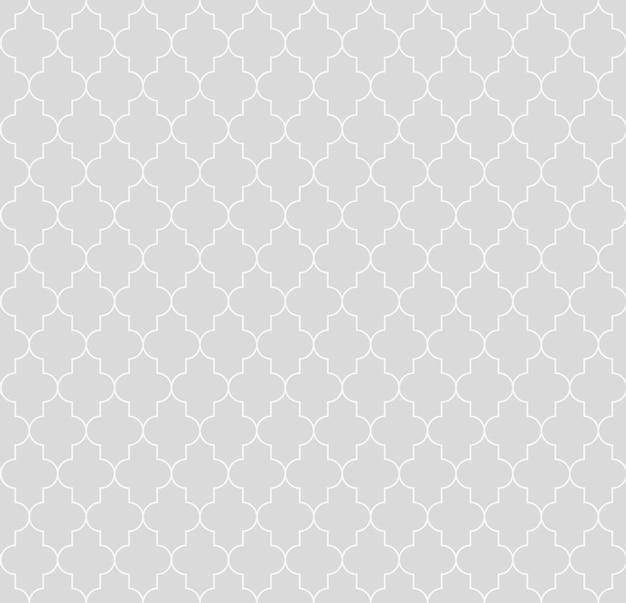 Islamische nahtlose kreisförmige geometrische figuren ornament musterdesign. vintage stilvolle luxus spalier dekorativer nahtloser hintergrund. vektorgitteroberfläche mit wiederholten abgerundeten formen.