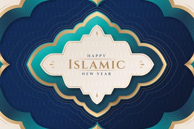Islamische neujahrsillustration mit farbverlauf