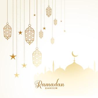 Islamische ramadan kareem eid festival karte design