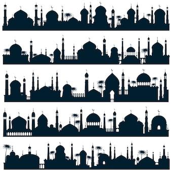 Islamische skylines der stadt