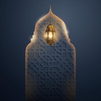 Islamische vektor design glow moschee haube
