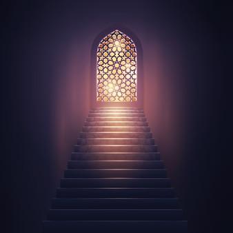 Islamischer design moschee innenraum