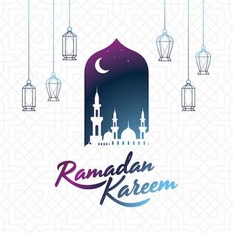Islamischer designhintergrund ramadan-kareem