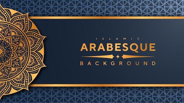 Islamischer fahnenhintergrund der luxusmandala