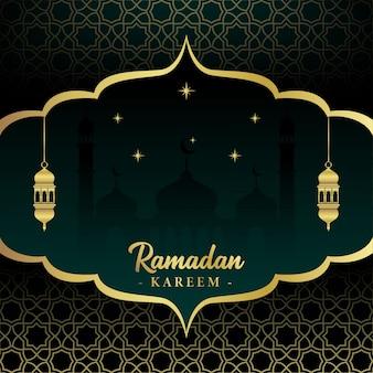 Islamischer festivalhintergrund des ramadan kareem