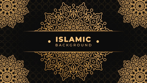 Islamischer hintergrund mit mandala islamic ornamental design