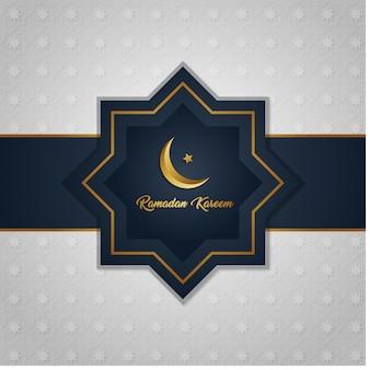 Islamischer hintergrund ramadan kareems mit muster
