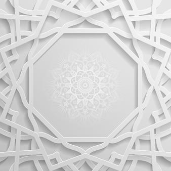 Islamischer musterhintergrund mit geometrischem muster