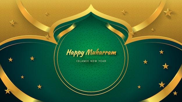 Islamischer neujahrs-luxushintergrund