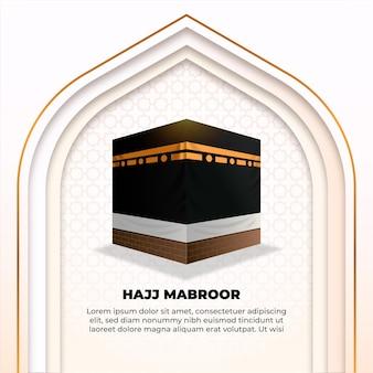 Islamischer pilgerentwurf