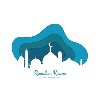 Islamischer ramadhan-hintergrund