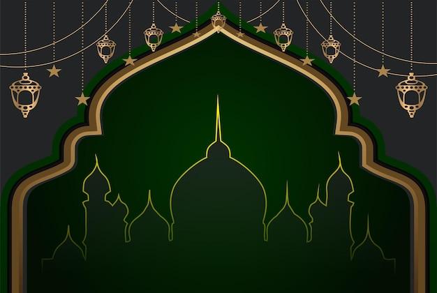 Islamischer religiöser hintergrund der moschee