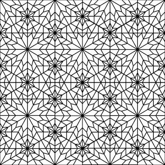 Islamisches abstraktes ornamentmusterdesign für druck- und modedesign