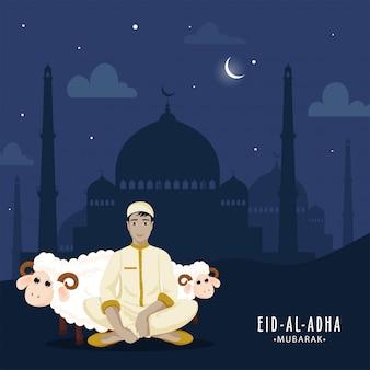Islamisches festival eid-al-adha konzept.