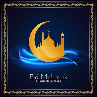 Islamisches festival eid mubarak hintergrund