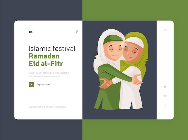 Islamisches festival ramadan eid al fitr zielseite