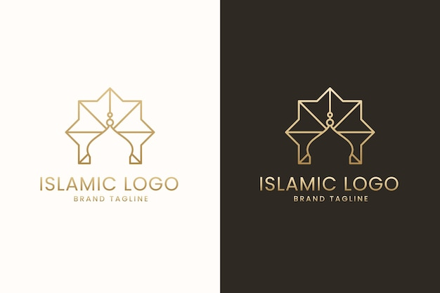 Islamisches logo-design in zwei farben