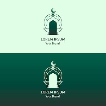 Islamisches logo in zwei farben