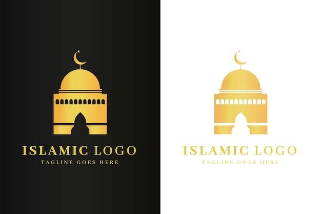 Islamisches logo in zweifarbiger vorlage