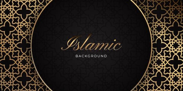 Islamisches luxusgold hintergrunddesign