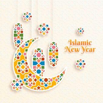 Islamisches neujahr im papierstil