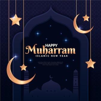 Islamisches neujahrsillustrationsdesign