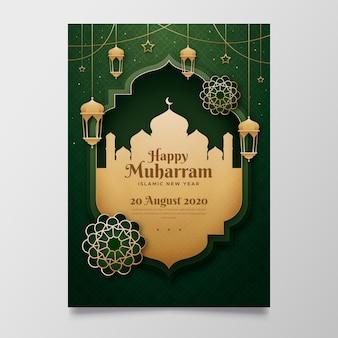 Islamisches neujahrsplakat