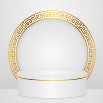Islamisches podium im luxusgoldstil