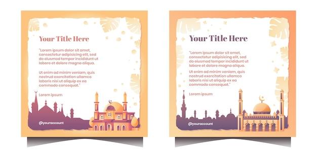Islamisches zitat mit moschee