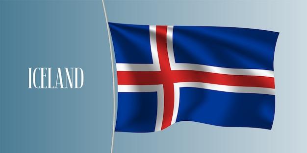 Island weht flagge